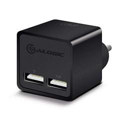 Alogic 2 Port USB Mini Wall Charger (2.4A + 1A - 17W) - Black